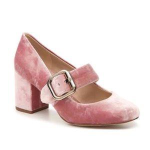Sam Edelman NWOB Chessie Pink Velvet Heels Size 8